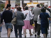 People on high street