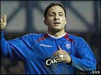 Rangers midfielder Hamed Namouchi