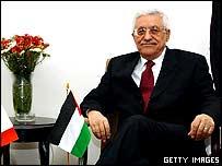 Palestinian leader Mahmoud Abbas.