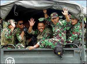 Indonesian troops leave Aceh