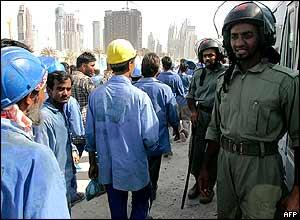 Dubai labourers' protest