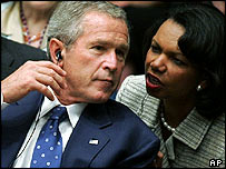 President Bush and Ms Rice