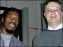 Benjamin Zephaniah (left) and Professor Mark Pallen