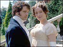 Colin Firth and Jennifer Ehle in BBC adaptation of Pride and Prejudice