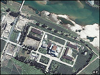 Space Imaging Asia picture shows the Yongbyon Nuclear Center, located north of Pyongyang, North Korea, august 2002