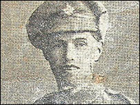 A photograph of L/Cpl T O Davies taken from a newspaper cutting dating from the time