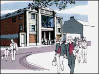 The planned restaurant and bar development for Rawtenstall
