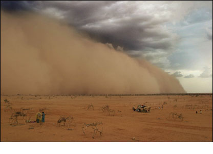 Tormenta de arena en Chad. (Jahi Chikwendiu, Washington Post)