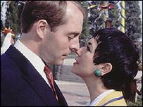 Simon Cadell and Ruth Madoc in the BBC sitcom Hi Di Hi