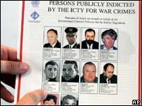 Список разыскиваемых Международным трибуналом по бывшей Югославии