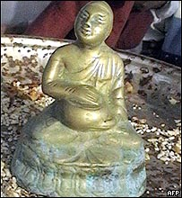 Buddha sculpture found in Mahabalipuram