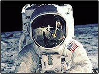 Buzz Aldrin during the Apollo 11 Lunar Mission