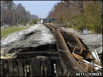 Image of Hurricane Katrina aftermath in Waveland, Mississippi