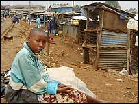Young girl in Kibera
