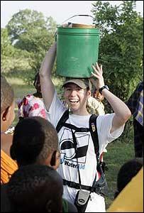 Liz Almond in Bankolo, Tanzania