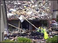 Larkhall blast scene