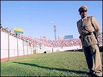 Policía en estadio