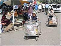 Children at Andijan's bazaar