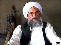 Image of Ayman al-Zawahri taken from a videotape aired on al-Jazeera on 2 September, 2005