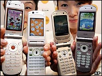 Clam shell mobile phones