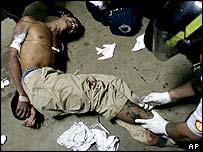 An injured gang member