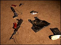 Weapons found at the scene of the killings