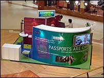 The Home Office stand set up at Merry Hill Shopping Centre