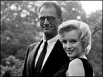 Arthur Miller with Marilyn Monroe in 1960