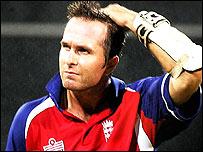 England skipper Michael Vaughan