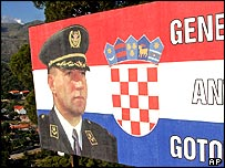 Billboard in support of Gen Ante Gotovina, Croatia