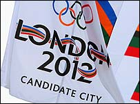 London has been festooned with flags to promote its Olympic bid