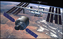 CEV rendezvous with ISS (artist's impression)