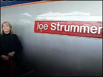 Lucinda with train Joe Strummer