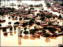Villages inundated