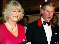 Prince Charles and his fiancee Camilla Parker Bowles