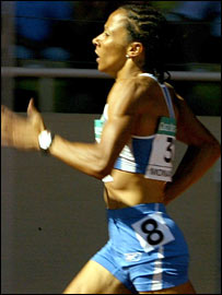 Kelly Holmes in action