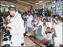 Ethiopian Jews pray in Addis Ababa. File photo