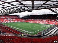 Estadio Old Trafford, conocido como el