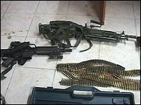 Assault rifle and light machine gun along with ammunition