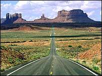 View of US desert