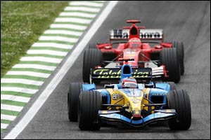 Alonso leads Michael Schumacher in San Marino