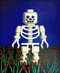 Muerte con cultivo de amapola. 2004. �leo sobre lienzo. 130 x 160 cm.