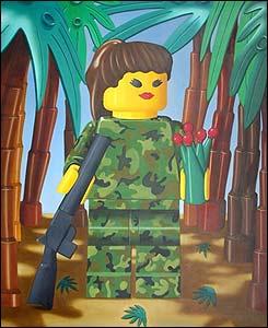 Colombia Land. Guerrillera. 2004. �leo sobre lienzo. 160 x 130 cm.