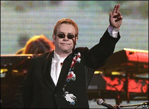 Elton John at New York's Madison Square Gardens