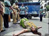Bangladesh protester