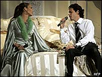 Jennifer Lopez with husband Marc Anthony at Grammys
