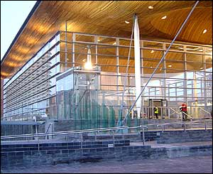 Exterior of new Welsh assembly chamber