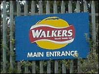 Walkers factory entrance in Swansea