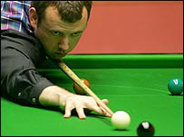 Mark Williams launches into a black