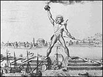 An old drawing of the Colossus of Rhodes. Picture: ce.eng.usf.edu/ website
